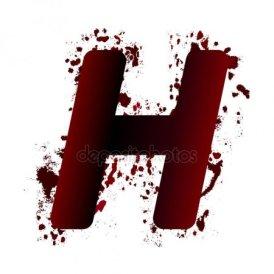 h letter design creepy