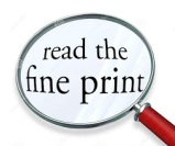 R is for Reading the fine print