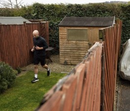 james campbell in his back garden 2