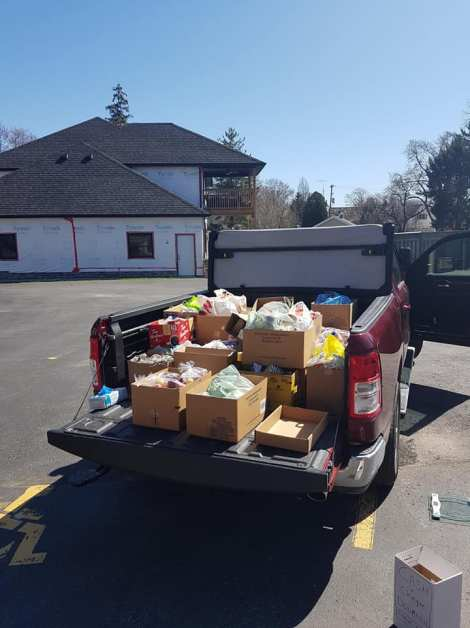 truck full of food for mission
